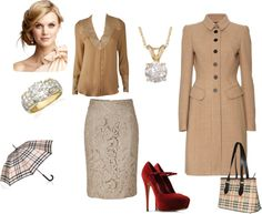 """""""A Little Fall into Burberry"""" by journeesmama on Polyvore"""