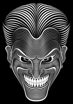 Joker - texture through lines