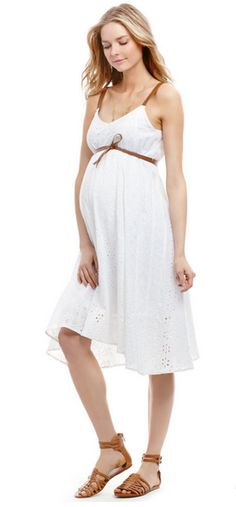 Jessica Simpson- Sleeveless Empire Waist #MaternityDress  #maternitystyle
