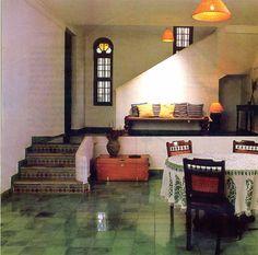 Interesting Interiors: Vishram by the Sea Ethnic Home Decor, Indian Home Decor, Dream House Plans, My Dream Home, Small House Interior Design, House Design, Living Room Kerala, North Facing House, Chettinad House