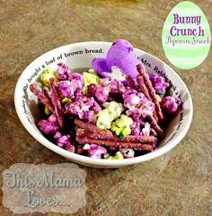 Bunny Crunch Popcorn Treat #recipe