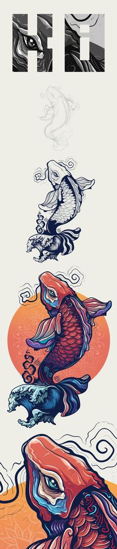 Today we have collected some creative Illustration design examples. And we hope you all like these Illustrations as you like in past. Illustration Vector, Vector Art, Creative Illustration, Food Illustrations, Koi, Desenho Tattoo, Japanese Art, Graphic Art, Concept Art