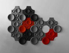 panneau acoustique décoratif en polyestère MOON, Johanson Design