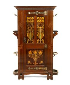 Shapland and Petter of Barnstaple - An Art Nouveau Inlaid Hall Cabinet, circa 1910.