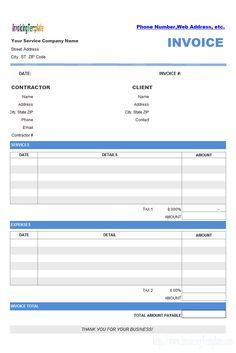 General Contractor Invoice Image Result For Construction Business Forms Templates  Business .