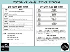 After School Planner for Incorporating Learning Activities After School from Kim Vij at The Educators' Spin On It