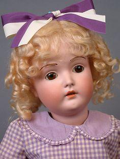 "Pristine Princess 24"" Kestner 196 Antique Doll Original Body W/ Stamp +TWO Wigs~"