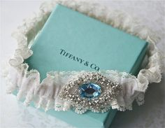 Wedding Garter Something Old, Something New, Something Blue. $59.00, via Etsy.