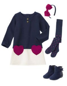 Gymboree navy blue pink diamond warm sweatshirt dress NWT 5 5T