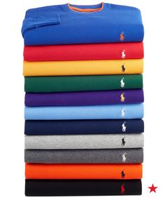 Sweet dreams are made of these Polo Ralph Lauren pajama tops for him.