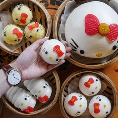 """Anyone has a #HelloKitty obsession? The one and only hello kitty dim sum place in the world.