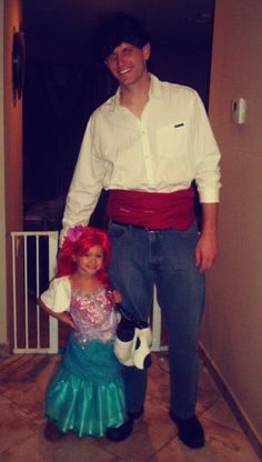 On the blog: Family Theme Costume #TheLittleMermaid #FatherDaughter