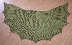 Leaf line crochet shawl! Free Ravelry download (would make a COOL bat cape for Halloween! ;0)