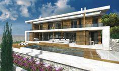 Neubau Villa in Santa Ponsa auf Mallorca mit Meerblick und Bergblick Villa, Luxury Estate, Berg, Mansions, House Styles, Home Decor, New Construction, Real Estate, Contemporary Design