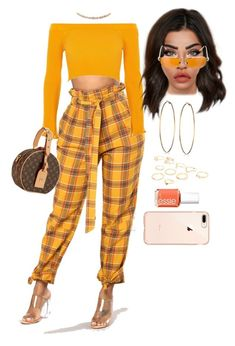 """Untitled #3038"" by mrkr-lawson ❤ liked on Polyvore featuring GUESS, River Island, Suzanne Kalan, Louis Vuitton, Chrome Hearts and Essie"
