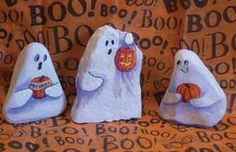 "These adorable ghosts are ""rock stars""....  (because they are made of rocks...)  BOO!!!     ;)"
