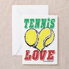 Play Strong® Tennis Valentines Card