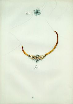Necklace (Cartier) Set of Jewels Archive Document