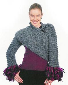 Ravelry: Criss-Cross Shrug pattern by Lion Brand Yarn - free crochet pattern - exists in knit and also free!