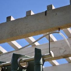 a curtain rod from a pergola. For outdoor privacy shade , Hanging a curtain rod from a pergola. For outdoor privacy shade , Hanging a curtain rod from a pergola. For outdoor privacy shade , Wood Pergola With Curtains – 50 Ideas For Privacy In The Garden Diy Pergola, Pergola Drapes, Pergola Swing, Cheap Pergola, Backyard Pergola, Pergola Plans, Pergola Ideas, Patio Ideas, Modern Pergola