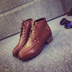Casual Flat Rivets Short Martin Boots