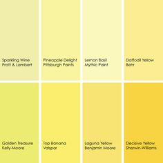 Yellow Paint Ideas suggested yellow paint picks | while not quite pastels, these