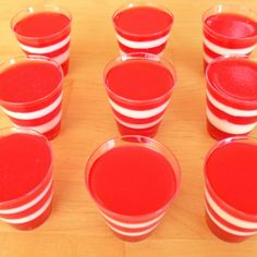 Malibu Peach Jello Shot (Jello, Water, Malibu rum)
