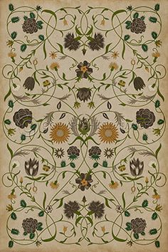 spicher & co. vinyl floor cloth pattern 2 the bee's knees | bees