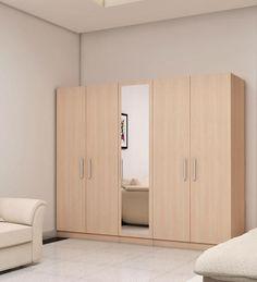 Five Door Wardrobe in Moldau Acacia finish in MDF By Primorati