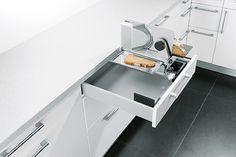 Clever-Kitchen-Ideas. Schuller Integrated Multi-Purpose Slicer.  #germankitchens #kitchendesign #schullerkitchens