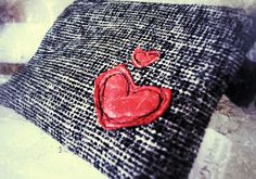 Valentines day red heart purse pouch for phone coins etc - by UrbanTreehouse on madeit