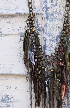 freebird necklace (antique multi-tone)