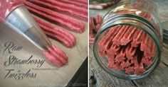 Raw Strawberry Twizzlers http://nouveauraw.com/raw-recipies/sweet-treats/raw-strawberry-twizzlers/