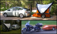 Michael William Setzer's Scarab SQ2 is a 300lb, no frills, camping trailer which incorporates a self-inflating queen size tent and an accessory storage compartment.
