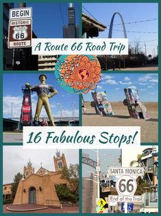 Route 66 images collage from 6 cities, Driving route 66 road trip.You can find Route 66 and more on our website.Route 66 images collage from 6 cities, Driving route 66 road trip. Driving Route 66, Route 66 Road Trip, Travel Route, Road Trip Hacks, Travel Usa, Places To Travel, Travel Destinations, Travel Packing, Samana