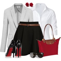 """""""Skater Skirt and Pumps"""" by wishlist123 on Polyvore"""