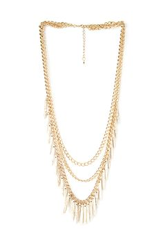 Layered Faux Turquoise Necklace | FOREVER21 - 1000087437
