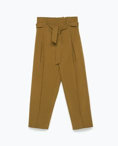 Image 7 of TIE-WAIST TROUSERS from Zara