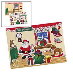Make a Santa's Workshop Sticker Scene (1/1) :   includes 1 x scene sheet: 17.1 cm x 12.1 cm, 1 x sticker sheet with 31 stickers