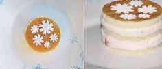 simple cake with strawberris