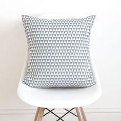 Geometric Blue Cushion Cover