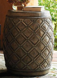 Makes an attractive garden piece or a side table outdoors.