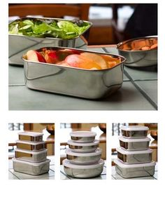 Safe and eco-friendly food storage is as easy as 1-2-3 with our Stainless Steel Nesting Trio. Theyu0027re a great alternative to disposable containers!  sc 1 st  Pinterest & Safe and eco-friendly food storage is as easy as 1-2-3 with our ...