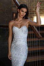 Priya Dress Iced Silver By Elle Zeitoune