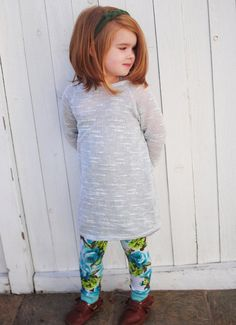 Slouchy Sweater Tunic - Gray - Little Faces Apparel. Hipster baby, baby girl tunic, toddler girl fashion, fall sweater for girls, shop handmade.