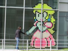 The Post-it War: creating images (mostly gaming-related) out of post-it notes. #teen #programming
