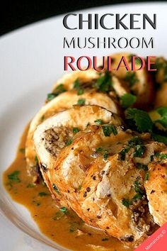 Chicken Roulade Stuffed with Mushroom Fine Dini Plating - Taste Sauce Recipes, Cooking Recipes, Healthy Recipes, Tofu Recipes, Noodle Recipes, Easy Chicken Recipes, Turkey Recipes, Christmas Chicken Recipes, Chicken Roulade Recipe