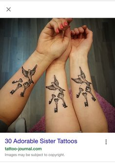 Mother daughter tattoo or sister tattoo