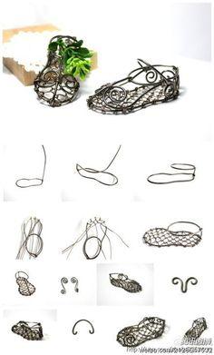 铁线舞鞋小篮子。文字步骤:
