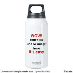 Customizable Template Make Your Own 10 Oz Insulated SIGG Thermos Water Bottle